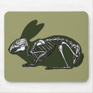 rabbit skeleton mouse mat