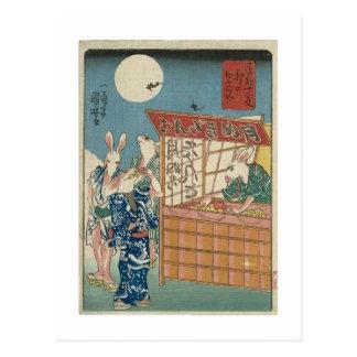 Rabbit Take-out Postcard