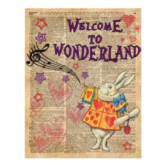 Rabbit Welcome To .. Alice In Wonderland 21.5 Cm X 28 Cm Flyer