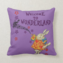 Rabbit Welcome To .. Alice In Wonderland Cushion