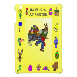 Rabbit with a barrow of eggs case for the iPad mini
