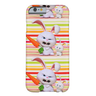 Rabbit with carrot and baby rabbit illustration iP Barely There iPhone 6 Case