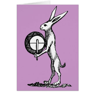 Rabbit with Drum Card