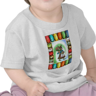 Rabbit with Easter gifts Tshirts