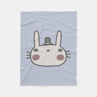 Rabbit With Hat Fleece Blanket