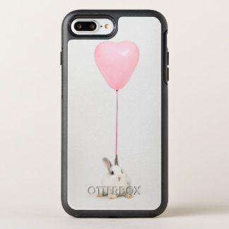 Rabbit With Pink Balloon OtterBox Symmetry iPhone 7 Plus Case
