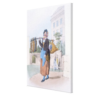 Rabbit Woman, from 'Costume of Great Britain', pub Canvas Print