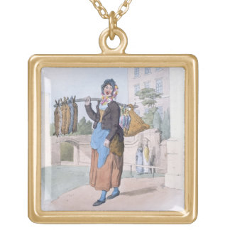 Rabbit Woman, from 'Costume of Great Britain', pub Gold Plated Necklace