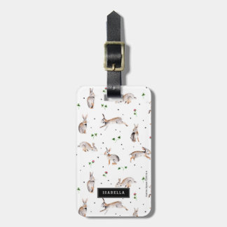 Rabbits and Clover | Travel vacation | Luggage Tag