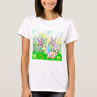 Rabbits and flowers T-Shirt
