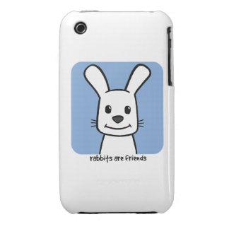 Rabbits Are Friends Case-Mate iPhone 3 Case