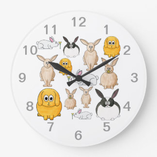 Rabbits. Round Clocks