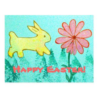 Rabbit's Garden Postcard