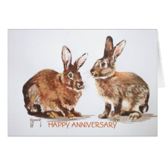 Rabbits Happy Anniversary Card