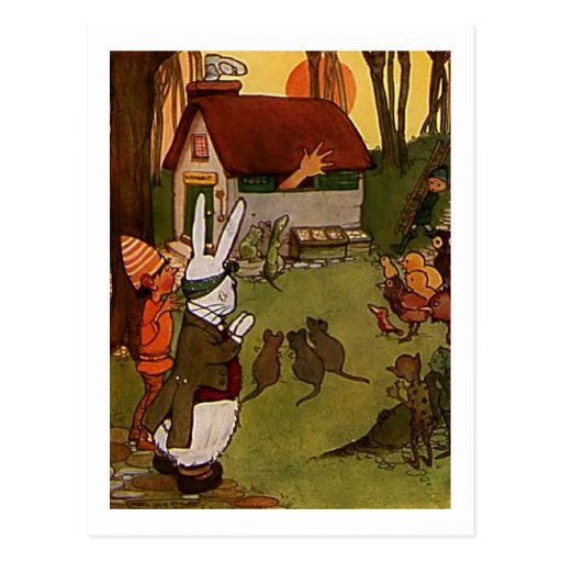 Rabbits House Post Cards