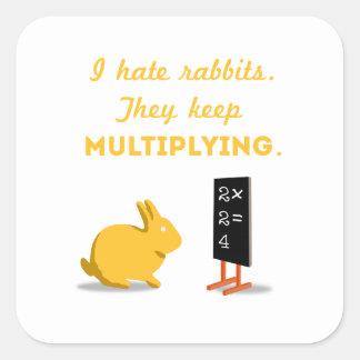 Rabbits Keep Multiplying Square Sticker
