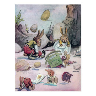 Rabbits Left Homeless in Calamity Postcard