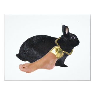 Rabbit's Lucky Human Foot 11 Cm X 14 Cm Invitation Card