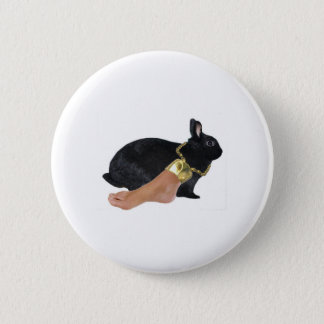 Rabbit's Lucky Human Foot 6 Cm Round Badge