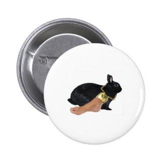 Rabbit's Lucky Human Foot 6 Cm Round Badge