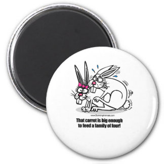 rabbits mating, rabbits boinking 6 cm round magnet