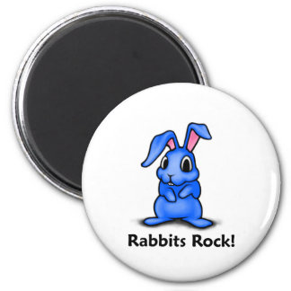 Rabbits Rock Fridge Magnets