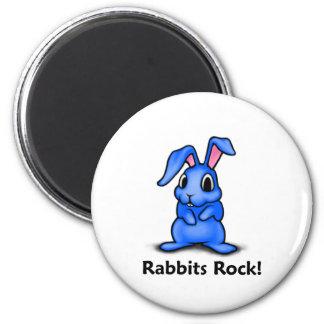 Rabbits Rock! Magnet