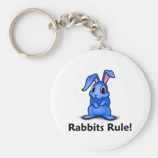 Rabbits Rule! Key Ring