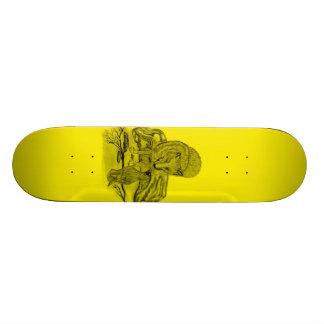 Rabe mit Wolf schwarz gelb Design Individuelles Deck