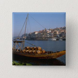 Rabelo Boats, Porto, Portugal 15 Cm Square Badge