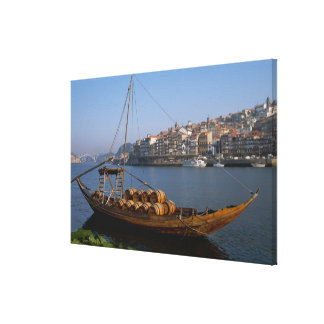 Rabelo Boats, Porto, Portugal Canvas Print