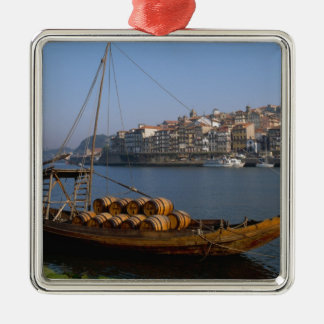 Rabelo Boats, Porto, Portugal Christmas Ornament