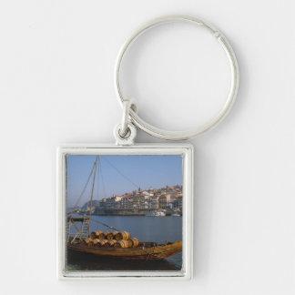 Rabelo Boats, Porto, Portugal Key Ring