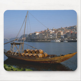 Rabelo Boats, Porto, Portugal Mouse Pad