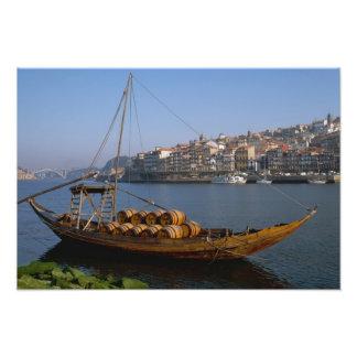 Rabelo Boats, Porto, Portugal Photo Art