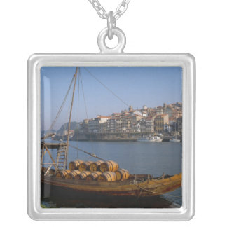 Rabelo Boats, Porto, Portugal Silver Plated Necklace
