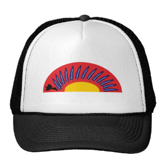 Raben feathers circle raven more feather circle trucker hat