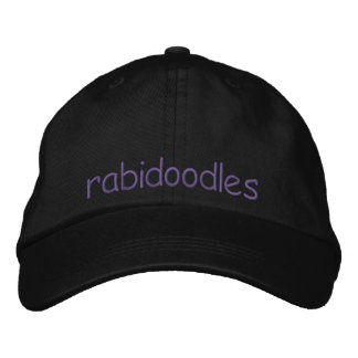 rabidoodles embroidered baseball caps