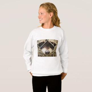 raccon on Girls' Hanes ComfortBlend Sweatshirt