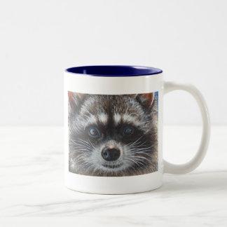 Raccoon #1 Two-Tone mug