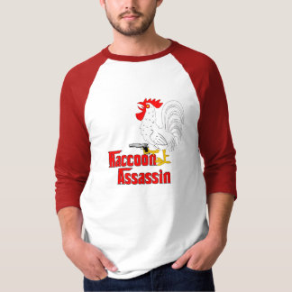 Raccoon Assassin Rooster T-Shirt