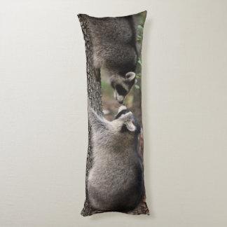 Raccoon body pillow. body cushion