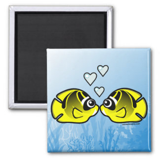 Raccoon Butterflyfish Love Magnet