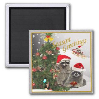 Raccoon Christmas gifts Fridge Magnet