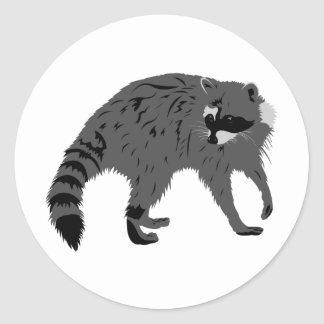 Raccoon Classic Round Sticker