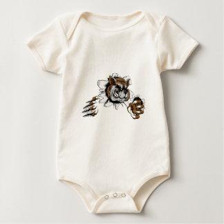 Raccoon claw breakthrough baby bodysuit