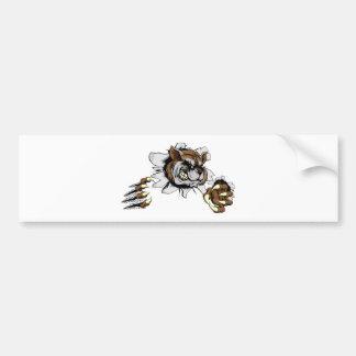 Raccoon claw breakthrough bumper sticker