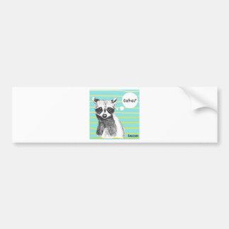 Raccoon_Cookies_113323534.ai Bumper Sticker