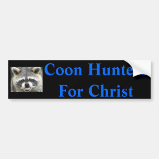 raccoon, Coon Hunters For Christ Car Bumper Sticker