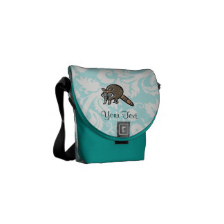 Raccoon; Cute Courier Bags